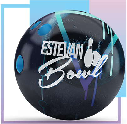 bowling ball with logo